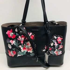 🌺 Calvin Klein Reversible Studded Floral Tote 🌺